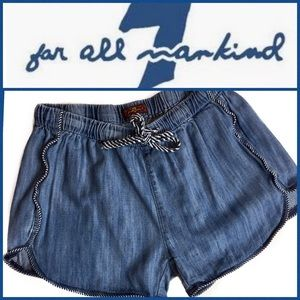 7 For All Mankind Girl's Denim Shorts Sz 12